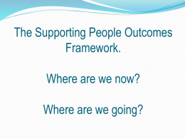 an overview of the SP outcomes and the next steps