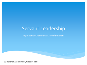 ELI project_Servant Leadership pres_v3