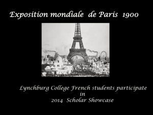 French Student Scholar Showcase 2014