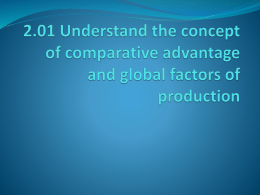 2.01 Comparative Advantages - robertbove
