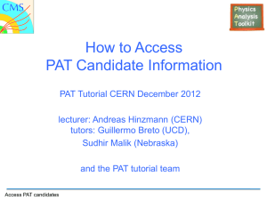 How to Access PAT candidates