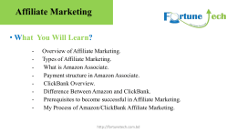 Affiliate Marketing - Official Blog of Fortune Tech