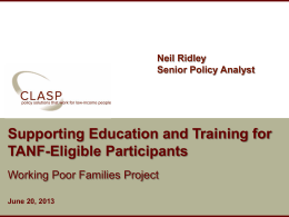 Chicago Thursday TANF Education Training #2
