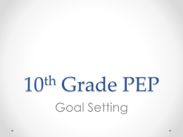 10th, Q2, Goal Setting - Denver Public Schools Counseling