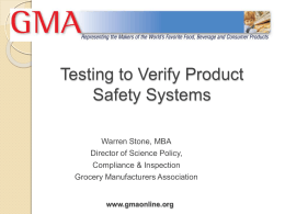 Testing to Verify Product Safety Systems
