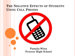 The Negative Effects of Students Using Cell Phones