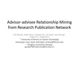 Advisor-advisee Relationship Mining from Research Publication