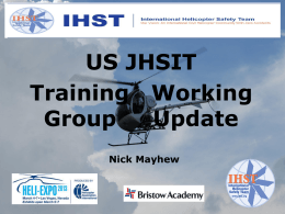 Training Work Group Update - HeliExpo 2013