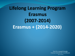 Erasmus+ Presentation for Departmental Erasmus Coordinators