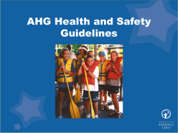 AHG Health and Safety Guidelines - Home