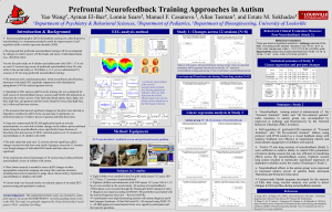 A presentation about Peak BrainHappiness Training for autism is