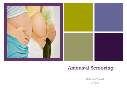 Antenatal screening - Pennine GP Training