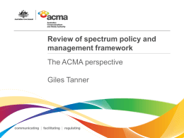 Review of spectrum policy and management framework