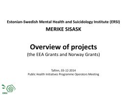 Estonian-Swedish Mental Health and Suicidology Institute (ERSI)