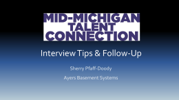 Interview Tips & Follow Up