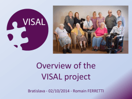 Overview of the VISAL project