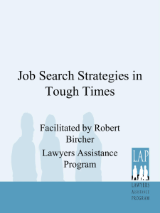 Job Search Strategies in Tough Times