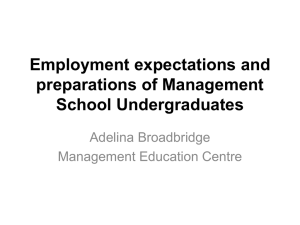Employment expectations of Management School Graduates