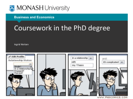 Coursework in the PhD Degree