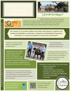 our flyer here - Celtic Charms Therapeutic Horsemanship