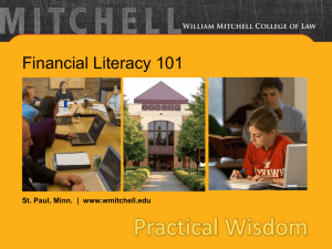Financial Literacy 101 PowerPoint
