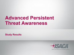 The Advanced Persistent Threat
