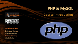 0. PHP-Course-Introduction
