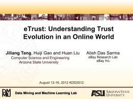 KDD12-eTrust - Arizona State University