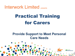Provide support to meet personal care needs PPTX