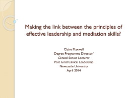 How do we make the link between the principles of effective