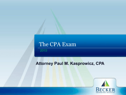 PRESENTATION TITLE - Attorney Paul M. Kasprowicz