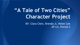 *A Tale of Two Cities* Character Project