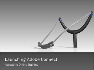 Launching Adobe Connect Online Training