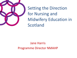 Setting the Direction - NHS Education for Scotland