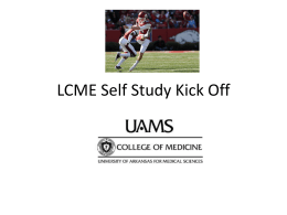 LCME Self Study Kick Off