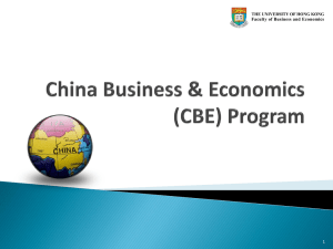 (CBE) Programme 2012-13 - Faculty of Business and Economics