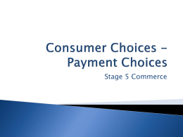 Payment Choices - Study Is My Buddy 2014