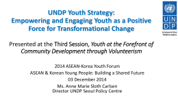 Why youth for development?
