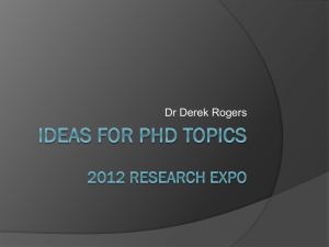 Ideas for PhD topics - School of Electrical & Electronic Engineering