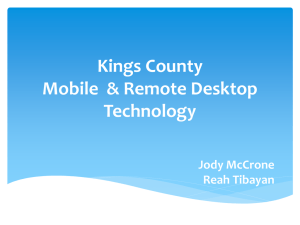Kings County Remote Desktop Technology