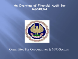 Financial Audit for MGNREGA - Committee for Co