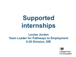 What are supported internships? - The Association of National