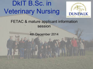 DkIT B.Sc. in Veterinary Nursing