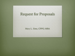 Request for Proposals Overview