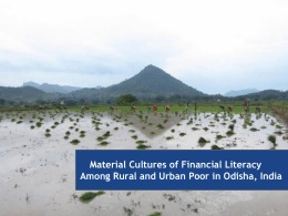 Material Cultures of Financial Literacy Among Rural and Urban Poor
