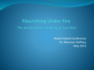 Maureen Gaffney presentation to RI conference, Flourishing