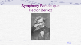 Symphony Fantastique Analysis
