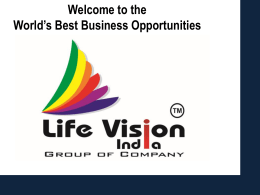 Wel come - Life Vision India