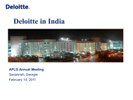Deloitte U.S. India Offices Overview