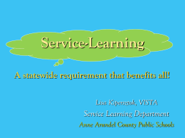 AACPS Service Learning Powerpoint